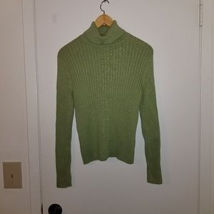 Croft and barrow green turtle neck sweater